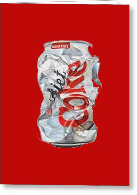 Diet Coke T-shirt Greeting Card