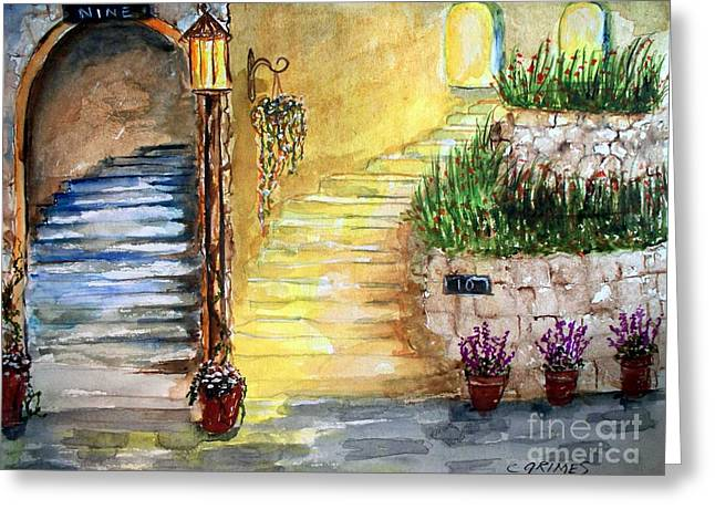 Greeting Card featuring the painting Differences by Carol Grimes