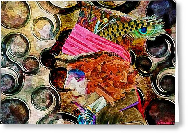 Different Drum Greeting Card by Ellen Cannon