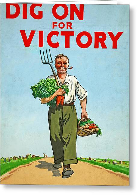 Dig On For Victory Greeting Card by English School