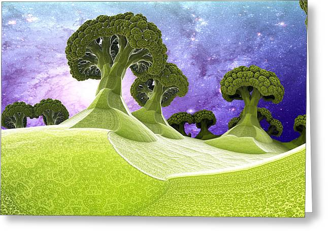 Broccoli Planet Greeting Card