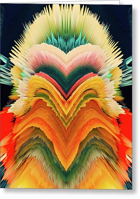 Vivid Eruption Greeting Card by Colleen Taylor