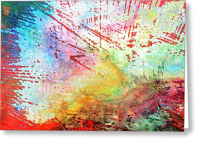 Digital Abstract Greeting Card by Tom Gowanlock