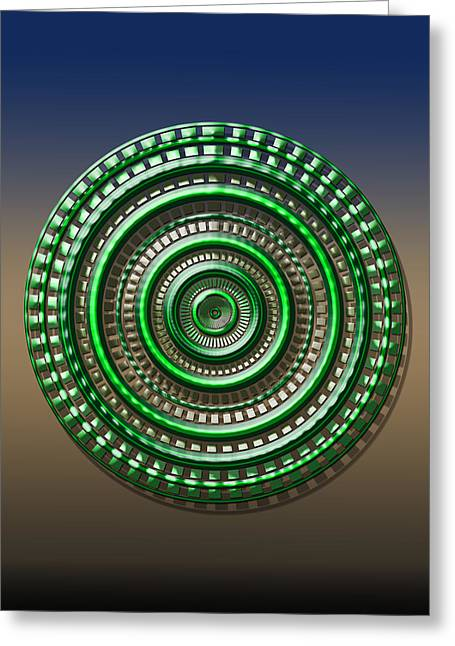 Digital Art Dial 3 Greeting Card