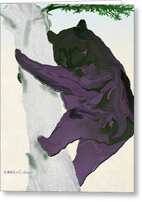 Digital Black Bear Greeting Card