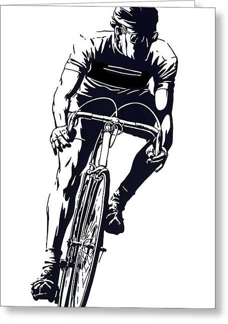 Digital Cyclist Greeting Card by Daniel Hagerman