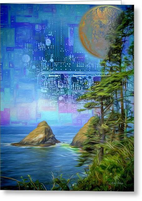 Digital Dream Greeting Card by Mike Braun