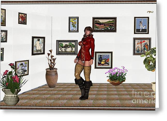 digital exhibition 32  posing  Girl 31  Greeting Card