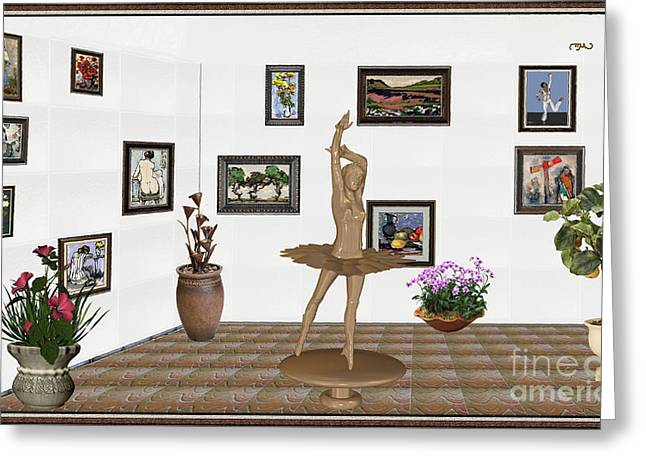 Digital Exhibition_statue Of My Dancing Girl Greeting Card