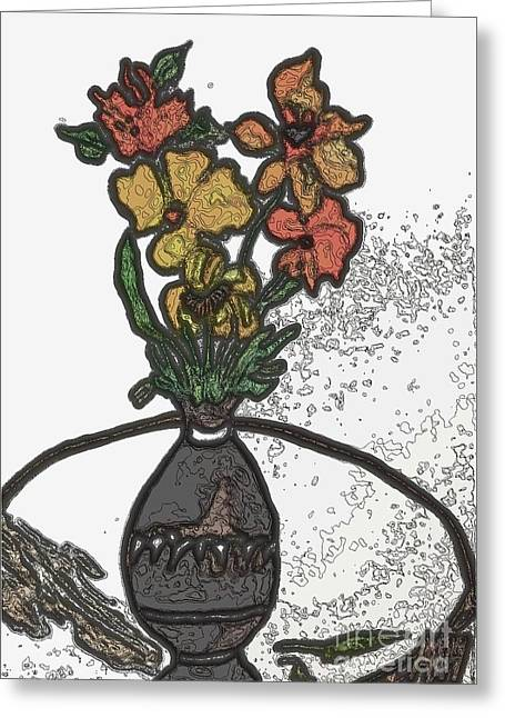 Digital Fall Bouquet Ll Greeting Card