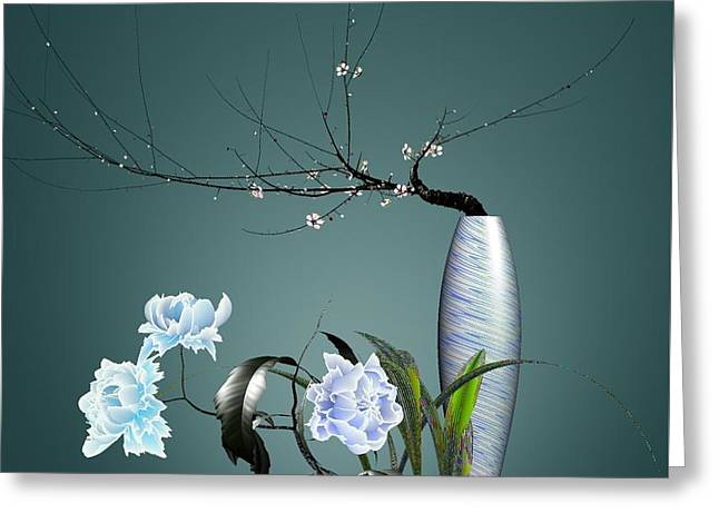 Digital Flower Arrangement 0204 Greeting Card