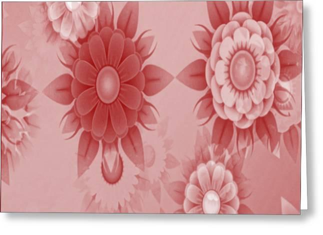 Digital Flowers Greeting Card