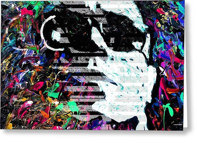 digital Lou Reed Greeting Card