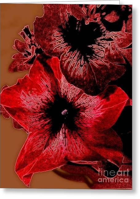 Digital Petunia Greeting Card