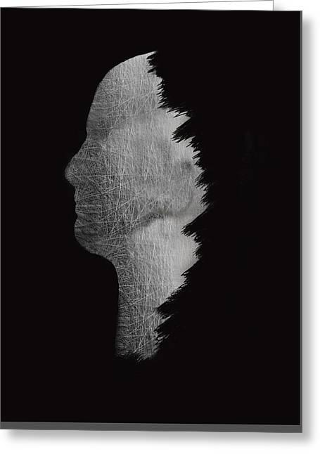Digital Sculpture In Black Greeting Card