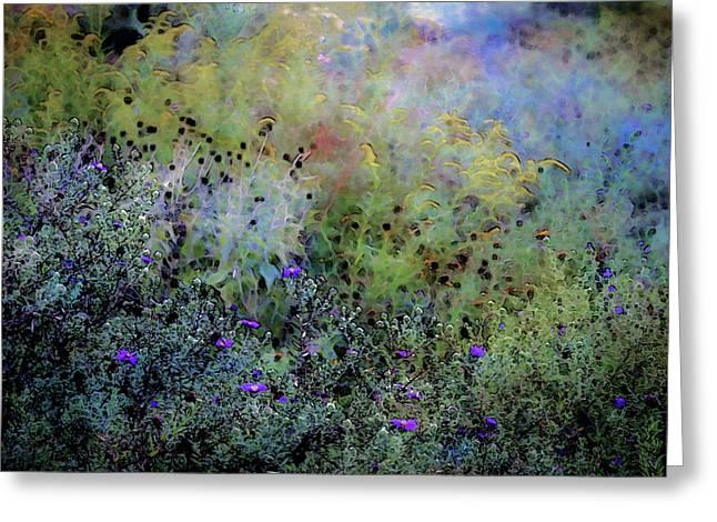 Digital Watercolor Field Of Wildflowers 4064 W_2 Greeting Card