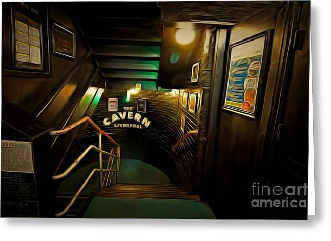Digitally Painted Illustration Of The Cavern Club Greeting Card