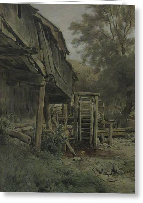 Dilapidated Mill  Greeting Card by Celestial Images