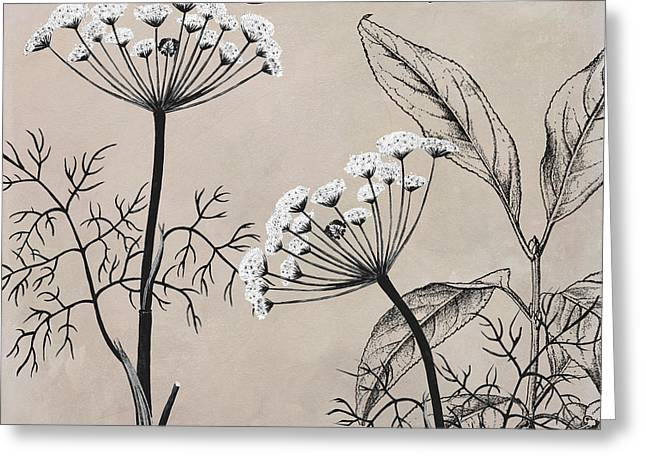 Dill Weed Flowering Herb Greeting Card by Mindy Sommers