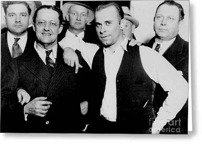 Dillinger And Law Enforcemment Friends Greeting Card