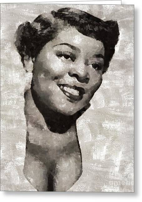 Dinah Washington, Singer And Pianist Greeting Card