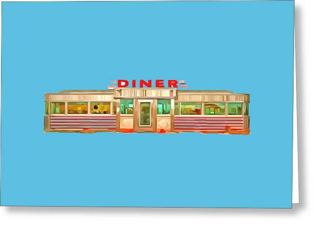 Diner Tee Greeting Card