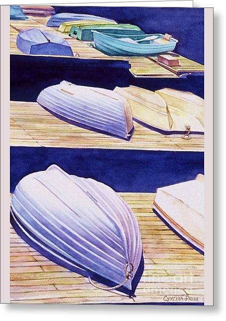 Dinghy Lines Greeting Card