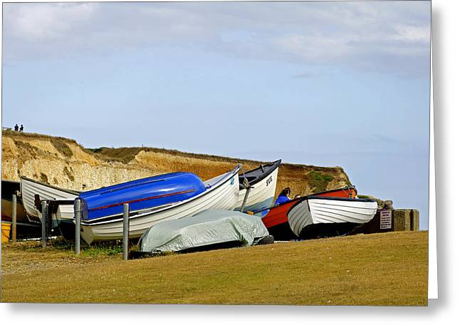 Dinghy Park At Freshwater Bay Greeting Card