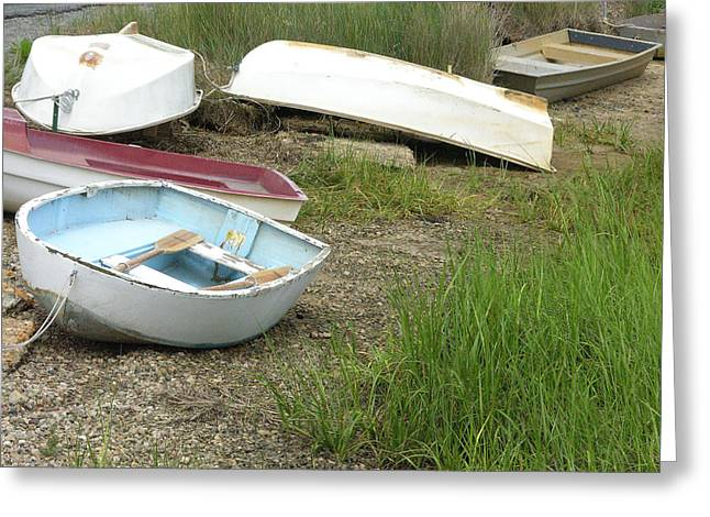 Dinghy Greeting Card by Peter Williams