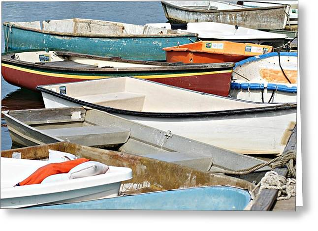 Dinghys At Bearskin Neck Greeting Card by Joe Faherty