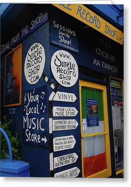 Dingle Record Shop Greeting Card