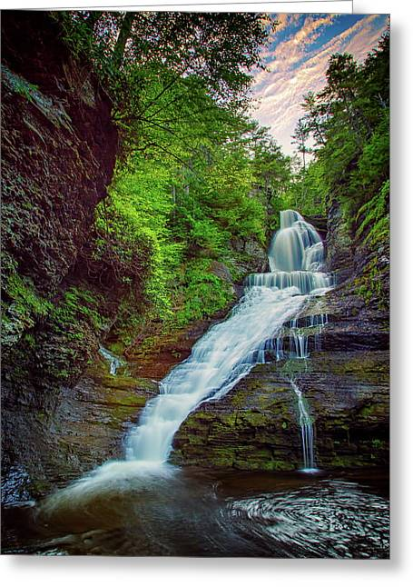 Dingmans Falls Greeting Card by Rick Berk