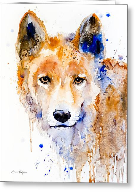 Dingo Greeting Card by Slavi Aladjova