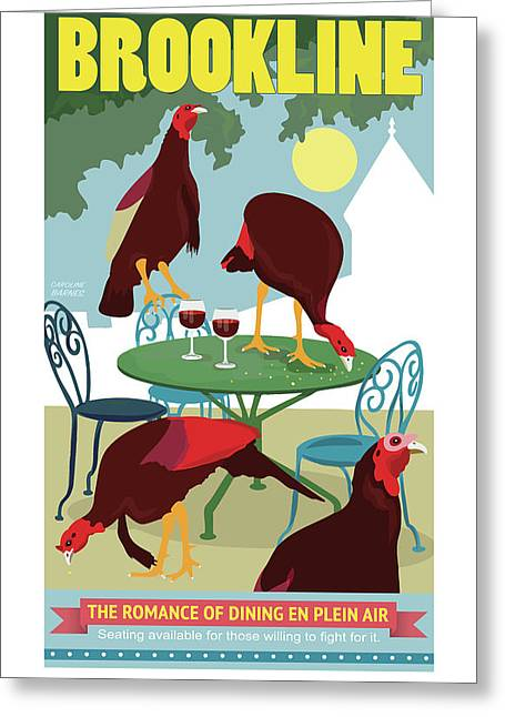Dining En Plein Air Greeting Card