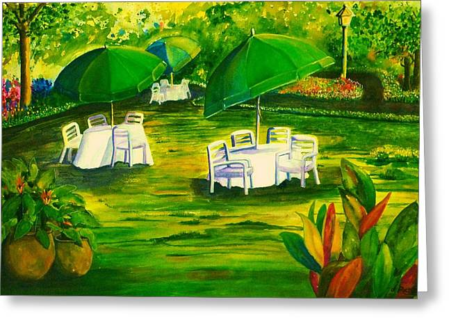 Dining In The Park Greeting Card