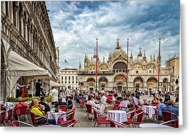 Dining On St. Mark's Square Greeting Card