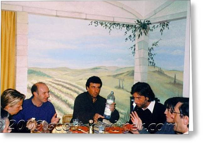 Dining Room Mural   Varese-italy Greeting Card by Scott K Wimer