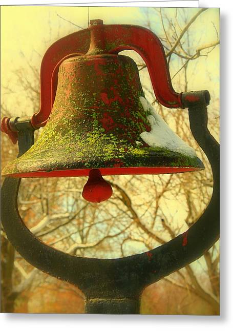 Dinner Bell Greeting Card by Susan Crittenden