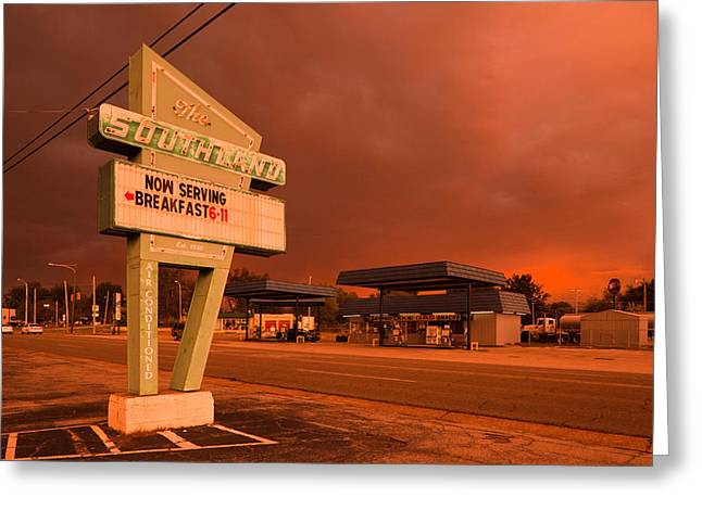 Dinner Sign At The Roadside, The Greeting Card by Panoramic Images