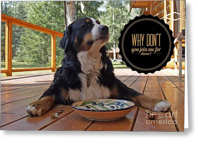 Dinner With My Dog Greeting Card