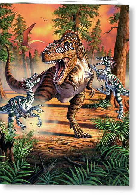 Dino Battle Greeting Card