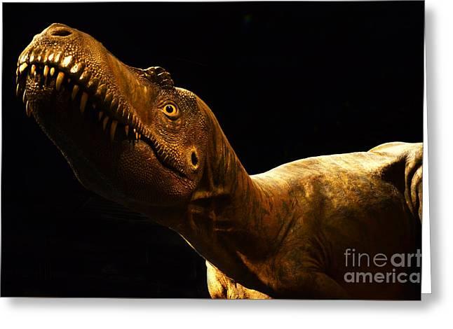 Dinosaur Greeting Card by Bob Christopher
