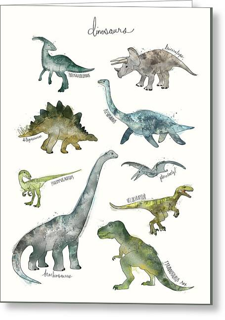 Dinosaurs Greeting Card