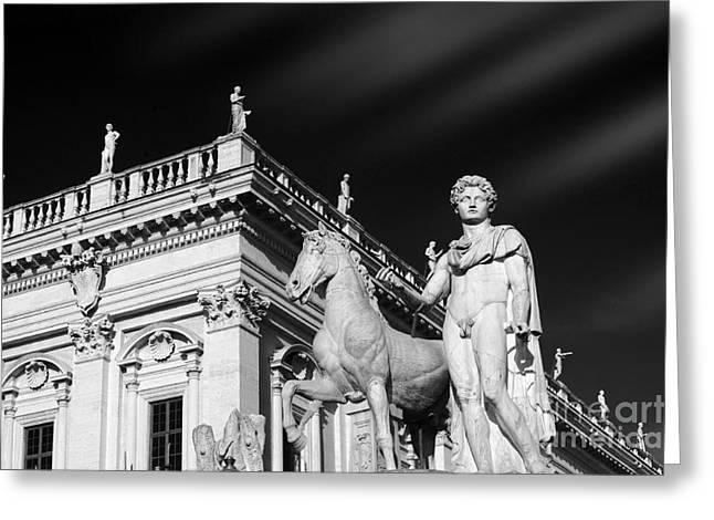 Dioscuri In Rome, Italy. Greeting Card