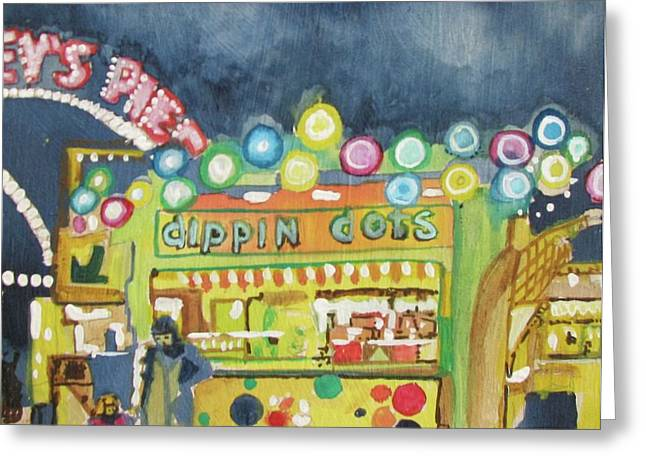 Amusements Drawings Greeting Cards - Dippin the Dots  Greeting Card by Patricia Arroyo