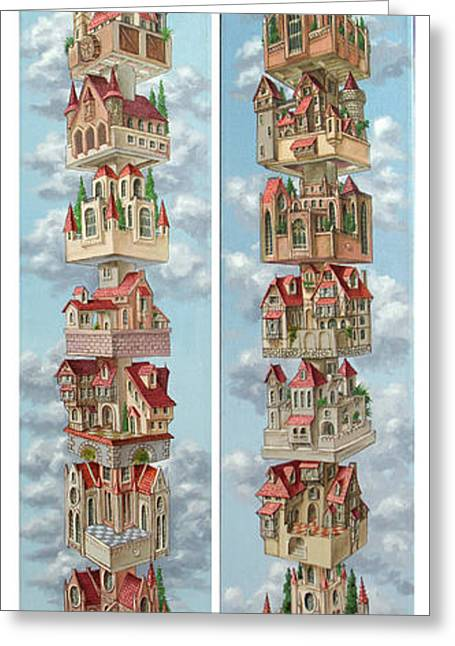Diptych Air Castles Greeting Card