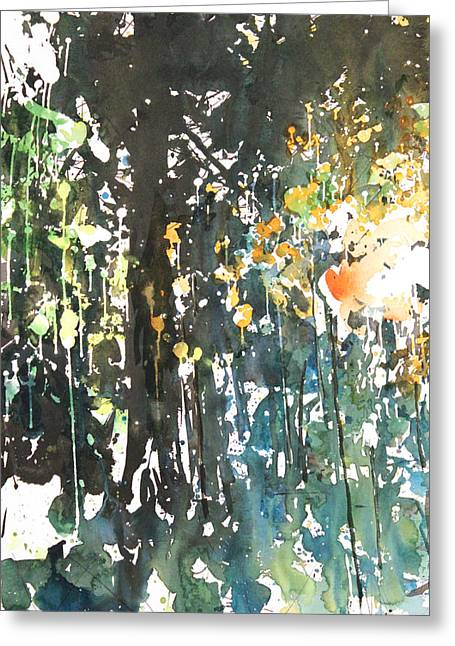 Diptych No11 Left Greeting Card by Sumiyo Toribe