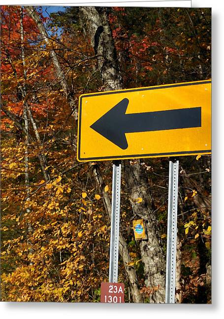 Directional Arrow Road Signs 1 Greeting Card by Lanjee Chee