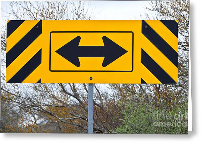 Directional Traffic Sign Greeting Card