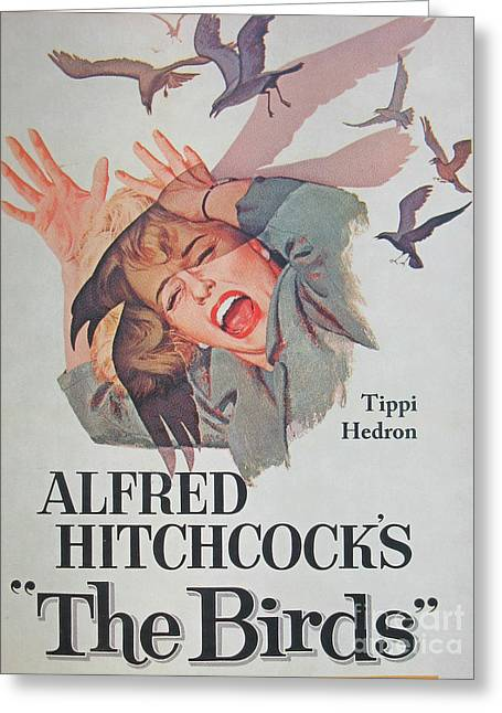 Director Alfred Hitchcock Rare Unique Collectible Famous Vintage Birds Poster Greeting Card